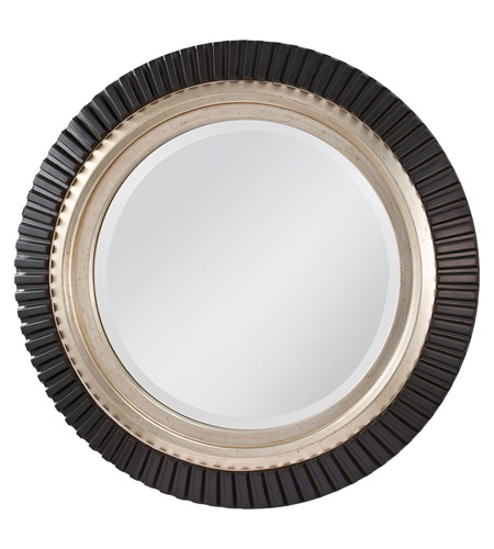 Feiss Geary Mirror in Black and Silver MR1124BK/SV photo