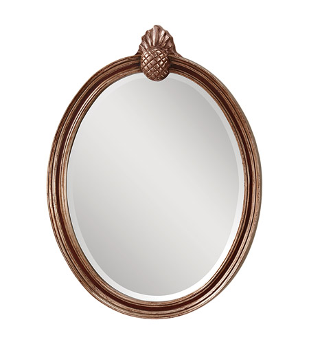 Feiss MR1139MHG/ASL Louise 33 X 24 inch Mahogany  and Antique Silver Wall Mirror Home Decor photo