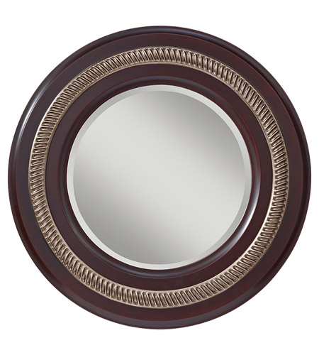 Feiss Saxon Mirror in Mahogany  and Antique Silver MR1166MHG/ASL photo