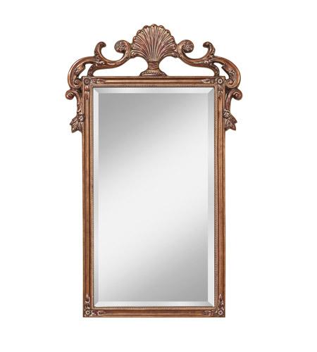 Murray Feiss Mirrors: Feiss MR1188AG Signature 42 X 25 Inch Aegean Gold Wall Mirror