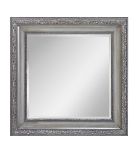 Murray Feiss Mirrors: Feiss MR1206FLGY Signature 42 X 42 Inch Flannel Grey Wall