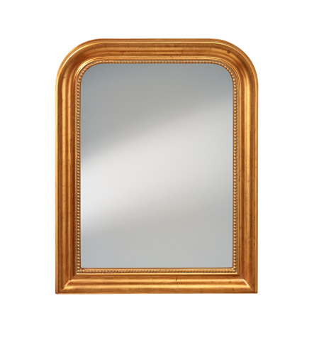 Murray Feiss Mirrors: Feiss MR1213DGL Signature 38 X 30 Inch Distressed Gold