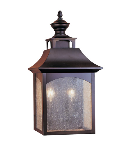 Feiss Homestead 2 Light Outdoor Wall Sconce in Oil Rubbed Bronze OL1003ORB photo