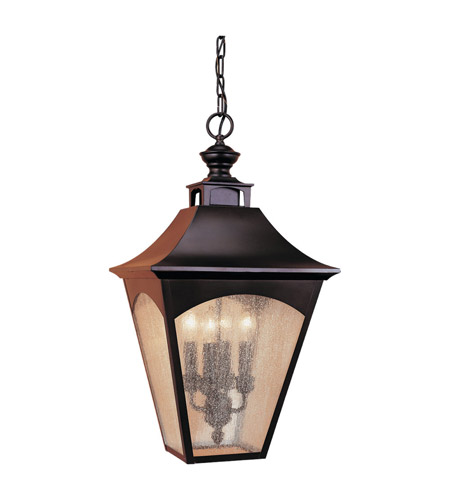 Feiss Homestead 4 Light Outdoor Hanging Lantern in Oil Rubbed Bronze OL1011ORB photo