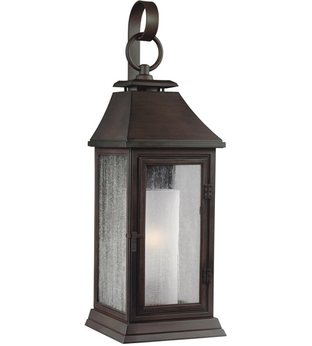 Murray Feiss Shepherd: Shepherd 1 Light 35 Inch Heritage Copper Outdoor Wall