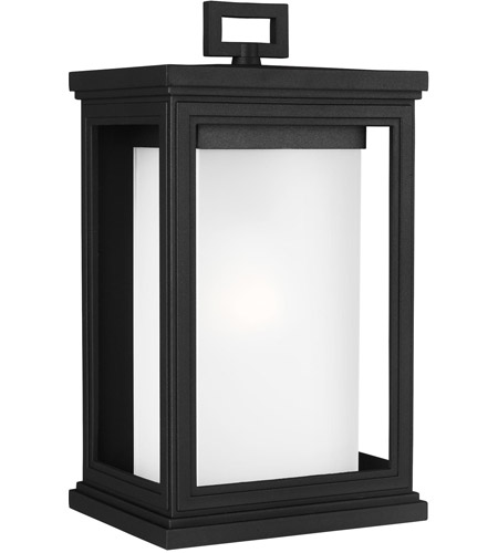 Feiss OL12901TXB Roscoe 1 Light 14 inch Textured Black Outdoor Wall Lantern, White Opal Glass photo