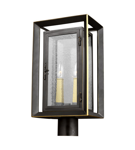 Feiss OL13807ANBZ/PBB Urbandale 2 Light 19 inch Antique Bronze and Painted Burnished Brass Outdoor Post Lantern  photo