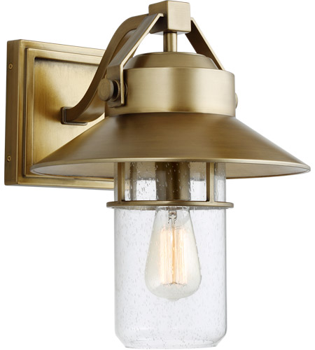 Feiss OL13902PDB Boynton 1 Light 15 inch Painted Distressed Brass Outdoor Wall Lantern photo