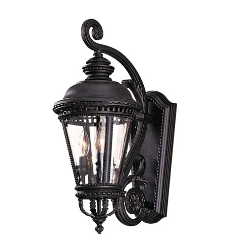 Feiss Castle 3 Light Outdoor Wall Sconce in Black  OL1901BK photo