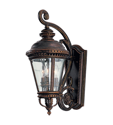 Feiss Castle 3 Light Outdoor Wall Sconce in Grecian Bronze OL1901GBZ photo