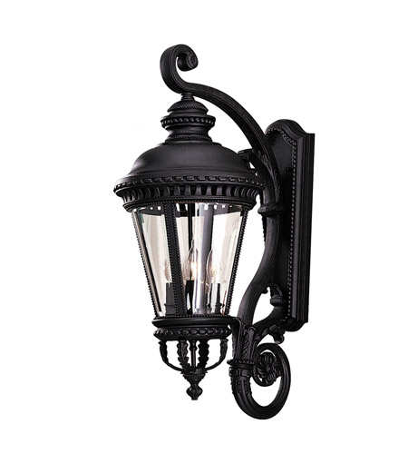 Feiss Castle 4 Light Outdoor Wall Sconce in Black  OL1904BK photo
