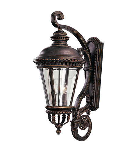 Feiss OL1904GBZ Castle 4 Light 32 inch Grecian Bronze Outdoor Wall Sconce photo