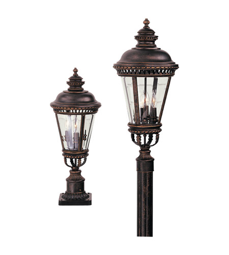 Feiss OL1907GBZ Castle 3 Light 22 inch Grecian Bronze Post Lantern photo