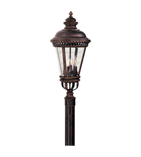 Feiss OL1908GBZ Castle 4 Light 28 inch Grecian Bronze Post Lantern photo