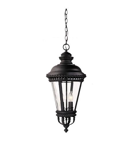 Feiss Castle 4 Light Outdoor Hanging Lantern in Black  OL1911BK photo