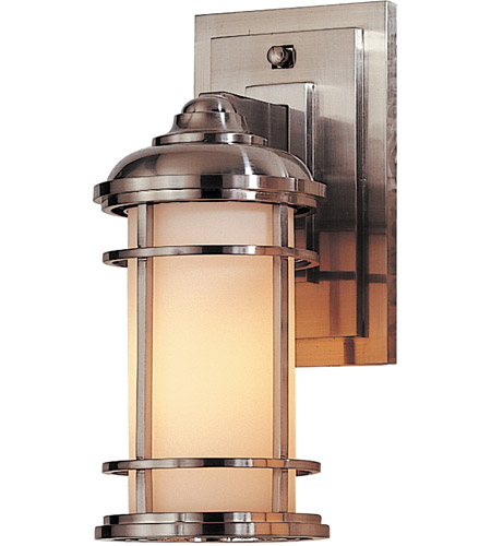 Feiss OL2200BS Lighthouse 1 Light 11 inch Brushed Steel Outdoor Wall Sconce in Standard photo