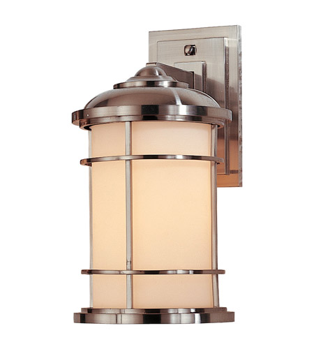 Feiss OL2201BS Lighthouse 1 Light 14 inch Brushed Steel Outdoor Wall Sconce in Standard photo