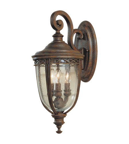 Feiss English Bridle 3 Light Outdoor Wall Sconce in British Bronze OL3001BRB photo