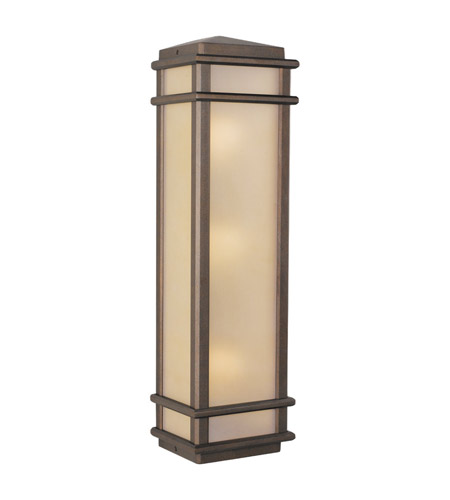 Feiss Mission Lodge 3 Light Outdoor Wall Sconce in Corinthian Bronze OL3404CB photo