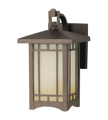 Feiss August Moon 1 Light Outdoor Wall Bracket in Corinthian Bronze OL5300CB photo