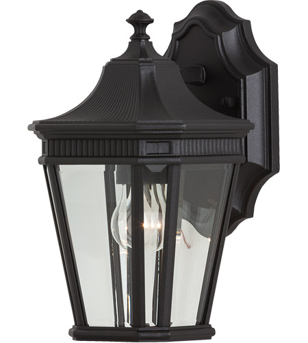 Feiss Cotswold Lane 1 Light Outdoor Wall Sconce in Black OL5400BK photo
