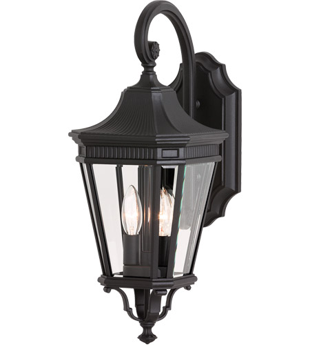 Feiss Cotswold Lane 2 Light Outdoor Wall Sconce in Black OL5401BK photo