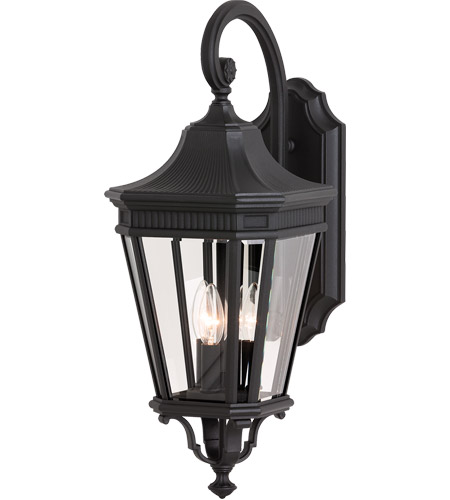 Feiss OL5402BK Cotswold Lane 3 Light 24 inch Black Outdoor Wall Sconce in Standard photo