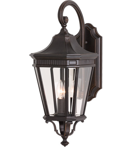 Feiss OL5402GBZ Cotswold Lane 3 Light 24 inch Grecian Bronze Outdoor Wall Sconce photo
