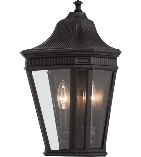 Feiss Cotswold Lane 2 Light Outdoor Wall Sconce in Black OL5403BK photo