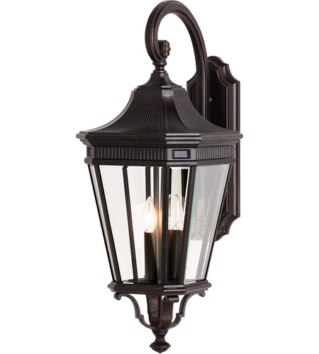 Feiss OL5404GBZ Cotswold Lane 3 Light 30 inch Grecian Bronze Outdoor Wall Sconce in Standard photo