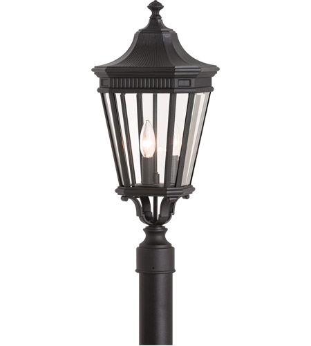 Feiss OL5407BK Cotswold Lane 3 Light 23 inch Black Post Lantern in Standard photo