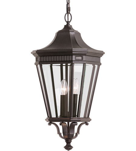Feiss OL5412GBZ Cotswold Lane 3 Light 12 inch Grecian Bronze Outdoor Hanging Lantern in Standard photo