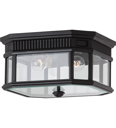 Feiss Cotswold Lane 2 Light Outdoor Flush Mount in Black OL5413BK photo