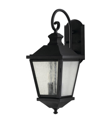 Feiss OL5701BK Woodside Hills 2 Light 20 inch Black Outdoor Wall Sconce photo