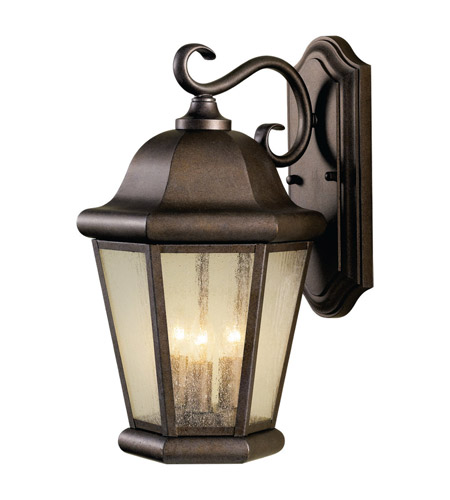 Feiss Martinsville 3 Light Outdoor Wall Sconce in Corinthian Bronze OL5902CB photo