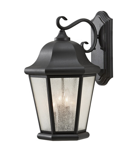 Feiss OL5904BK Martinsville 4 Light 20 inch Black Outdoor Wall Sconce photo