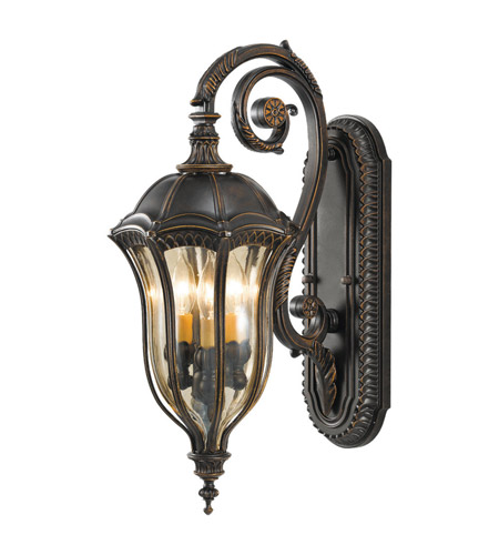 Feiss Baton Rouge 3 Light Outdoor Wall Sconce in Walnut OL6002WAL photo