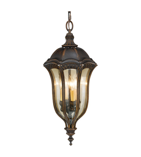Feiss Baton Rouge 4 Light Outdoor Hanging Lantern in Walnut OL6012WAL photo