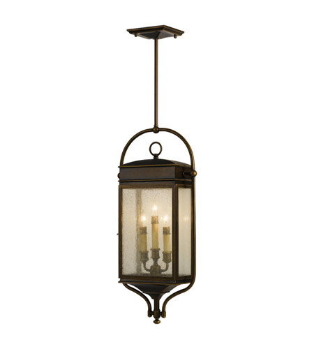 Feiss Whitaker 3 Light Outdoor Hanging Lantern in Astral Bronze OL7411ASTB photo