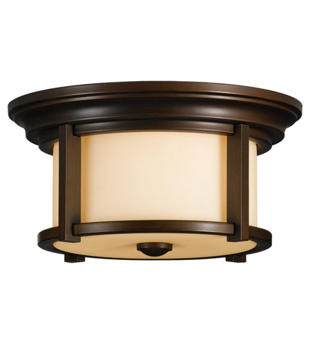 Feiss OL7513HTBZ Merrill 2 Light 13 inch Heritage Bronze Outdoor Flush Mount in Standard photo