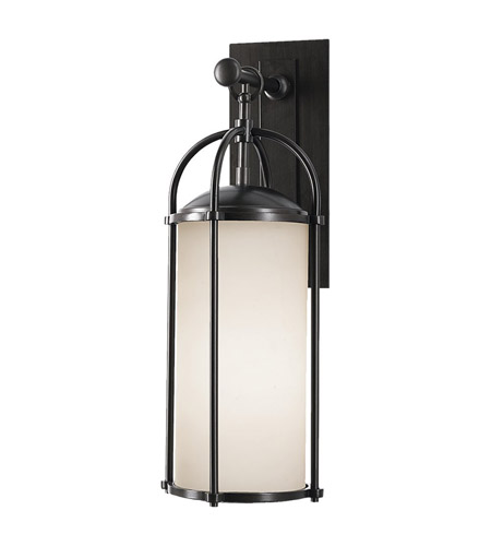 Feiss OL7601ES Dakota 1 Light 21 inch Espresso Outdoor Wall Sconce in Opal Etched Glass photo