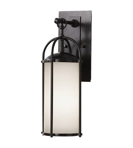 Feiss OL7604ES Dakota 1 Light 17 inch Espresso Outdoor Wall Sconce in Opal Etched Glass photo