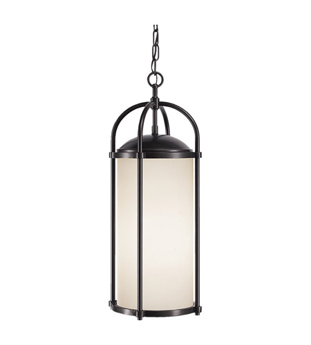 Feiss OL7611ES Dakota 1 Light 10 inch Espresso Outdoor Hanging Lantern in Standard, White Opal Etched Glass  photo