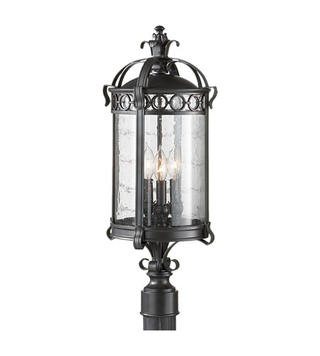 Feiss Chancellor 3 Light Post Lantern in Black Sable OL7808BSB photo