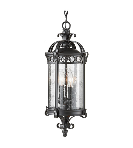 Feiss Chancellor 2 Light Outdoor Hanging Lantern in Black Sable OL7811BSB photo