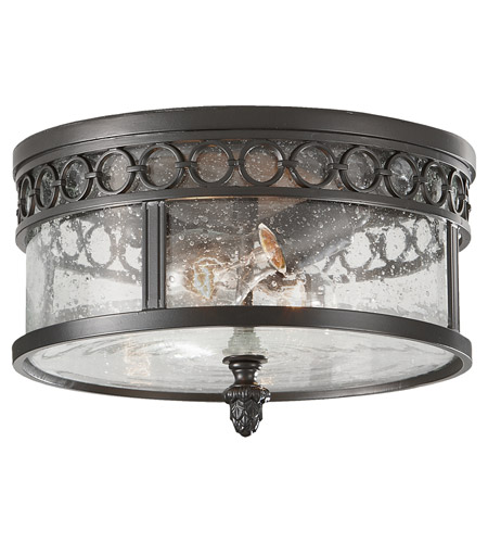 Feiss Chancellor 2 Light Outdoor Flush Mount in Black Sable OL7813BSB photo