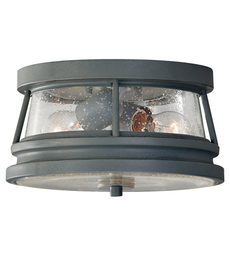 Feiss OL8113STC Chelsea Harbor 2 Light 11 inch Storm Cloud Outdoor Flush Mount photo