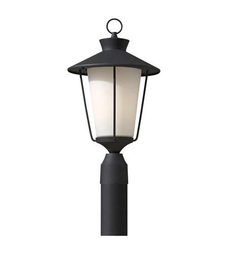 Feiss Hawkins Square 1 Light Post Lantern in Textured Black OL8408TXB photo