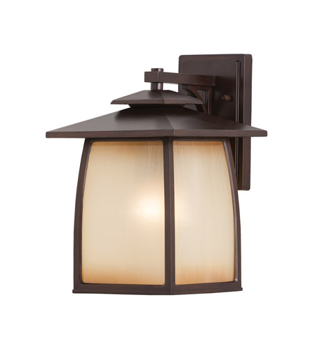 Feiss Wright House 1 Light Outdoor Wall Sconce in Sorrel Brown OL8502SBR photo