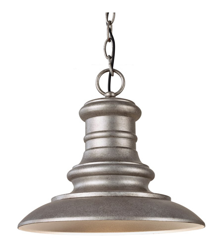 Feiss OL8904TRD Redding Station 1 Light 12 inch Tarnished Outdoor Hanging Lantern in Standard photo